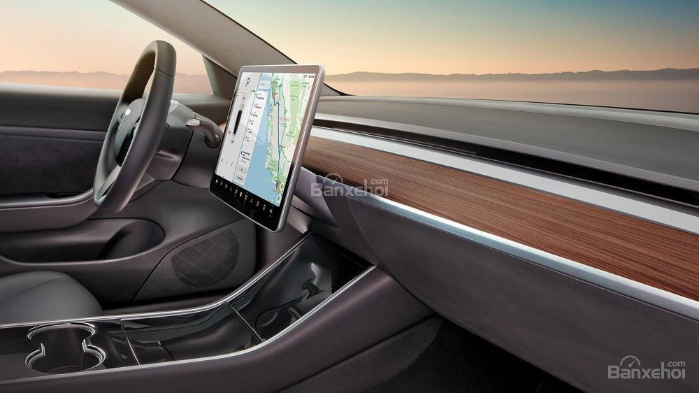 Đánh giá xe Tesla Model 3 2018 về khoang nội thất - Ảnh a2
