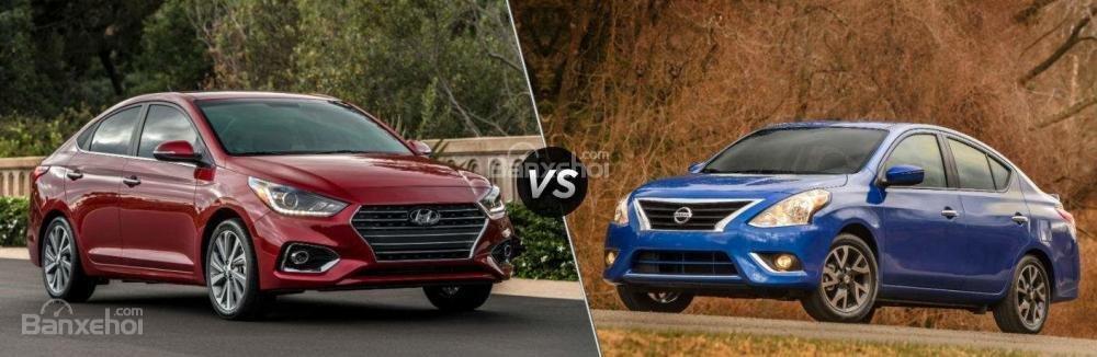 Hyundai Accent 2018 và Nissan Sunny 2018/