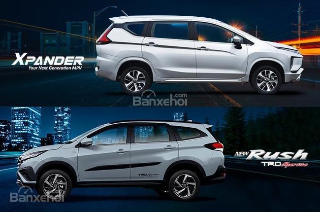 So sánh xe Mitsubishi Xpander 2018 và Toyota Rush 2018 về thân xe a1