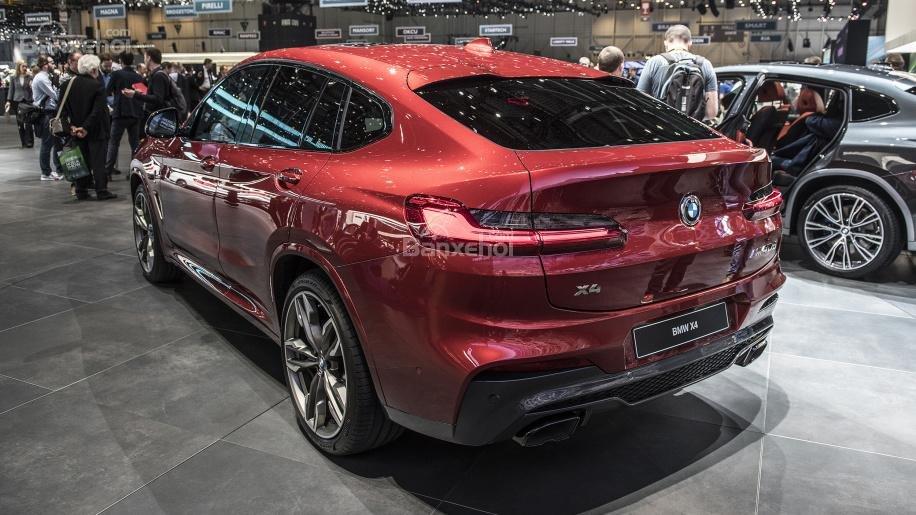 Đánh giá xe BMW X4 2019: Đuôi xe nhìn nghiêng.
