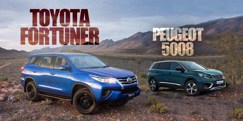 So sánh xe Toyota Fortuner 2018 và Peugeot 5008 2018: Ông hoàng và tân binh.