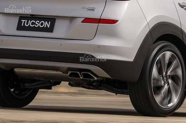 Đánh giá xe Hyundai Tucson 2019 về hệ thống ống xả