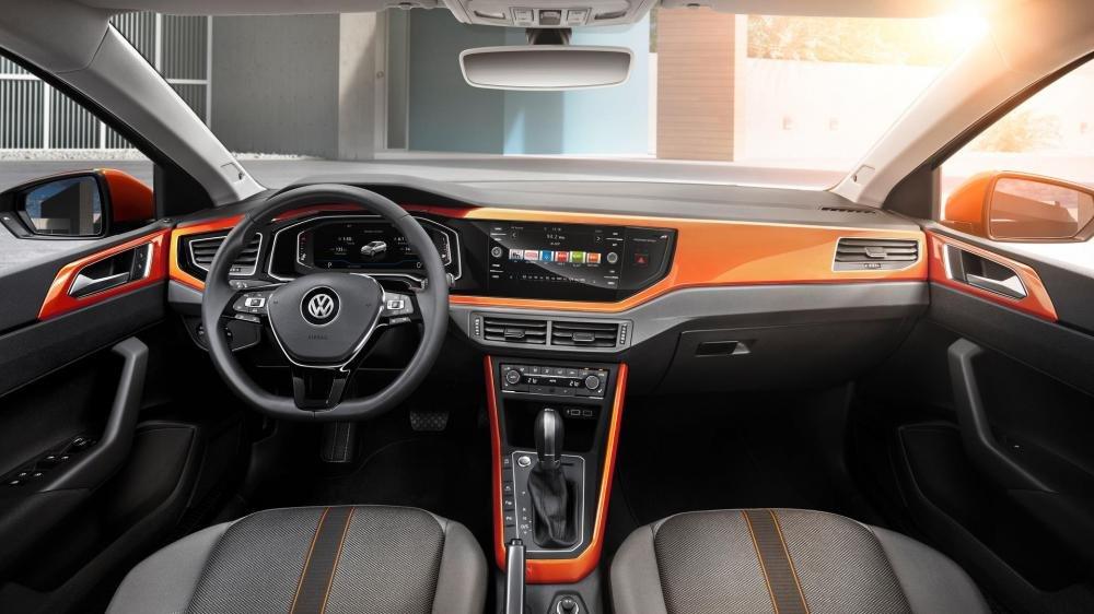 Ảnh chụp bảng táp-lô xe Volkswagen Polo 2018
