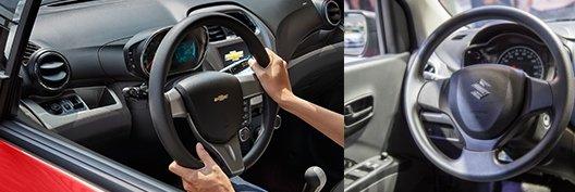 So sánh xe Suzuki Celerio 2018 và Chevrolet Spark LT 2018 về vô lăng