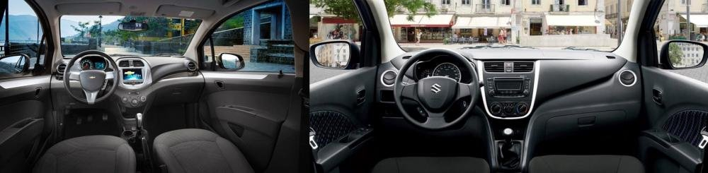 So sánh xe Suzuki Celerio 2018 và Chevrolet Spark LT 2018 về táp lô
