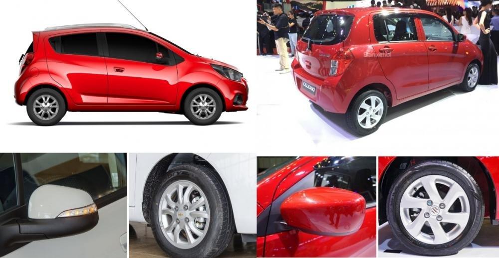So sánh xe Suzuki Celerio 2018 và Chevrolet Spark LT 2018 về thân xe