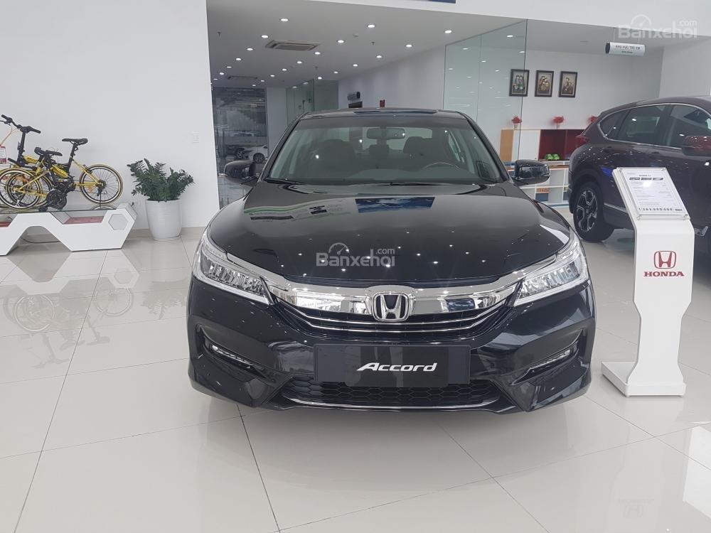 Honda Accord đời 2018- Honda ô tô Bắc Ninh, màu đen, xe nhập (1)
