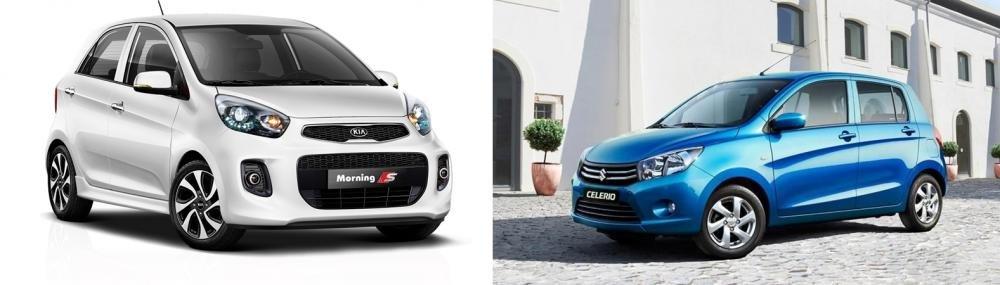 So sánh xe Suzuki Celerio 2018 và Kia Morning S 2018 về thiết kế