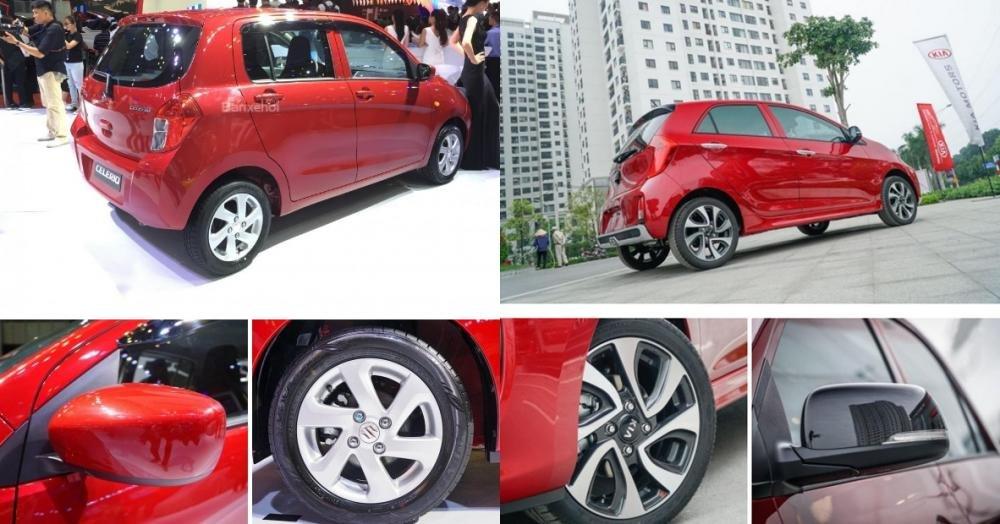 So sánh xe Suzuki Celerio 2018 và Kia Morning S 2018 về thân xe