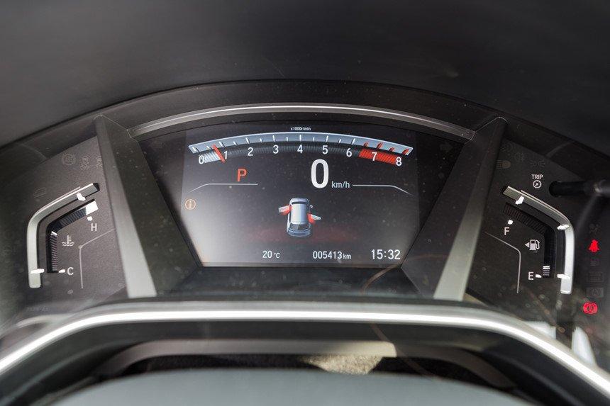 Ảnh chụp cụm đồng hồ xe Honda CR-V L 2018