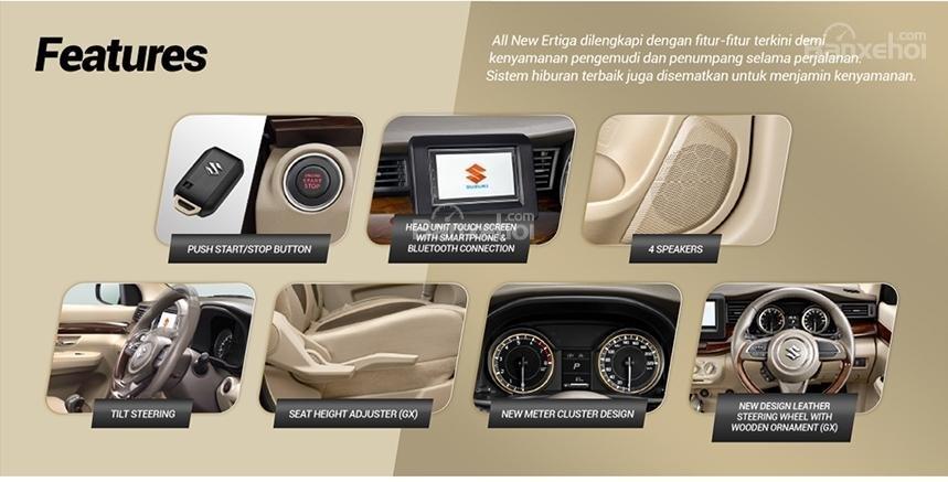 Trang bị tiện ích và an toàn trên Suzuki Ertiga 2018 a1