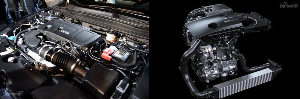 So sánh xe Nissan Altima 2019 và Honda Accord 2018 về động cơ