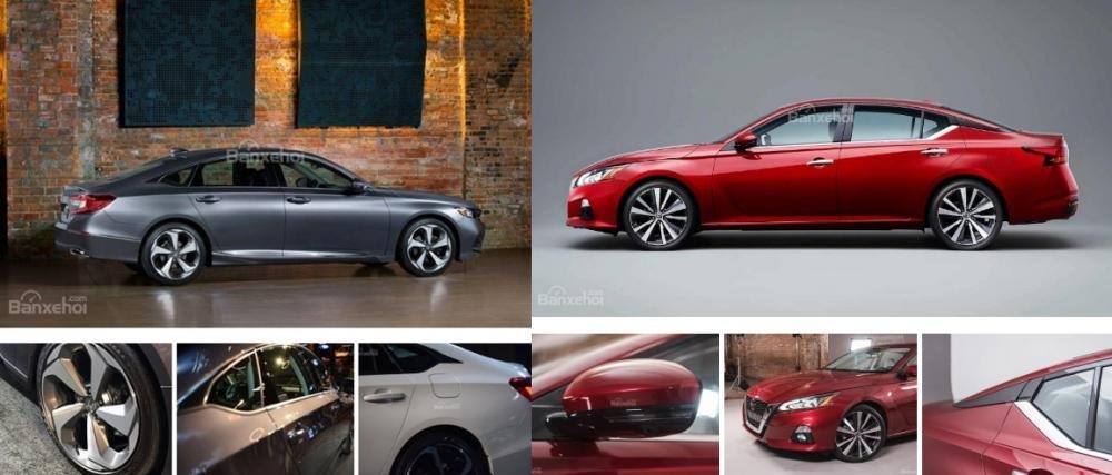So sánh xe Nissan Altima 2019 và Honda Accord 2018 về thân xe