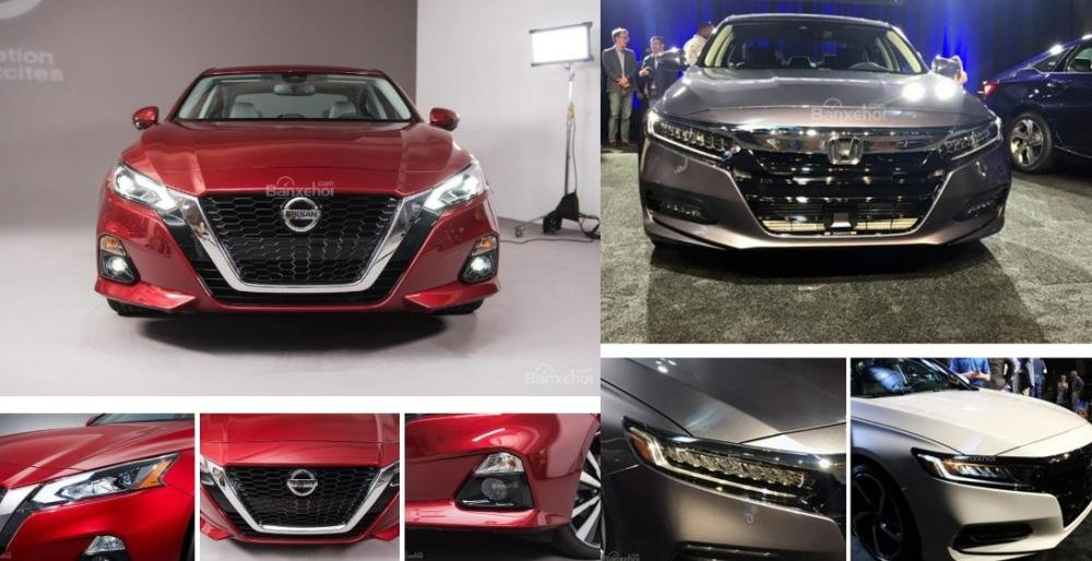 So sánh xe Nissan Altima 2019 và Honda Accord 2018 về đầu xe