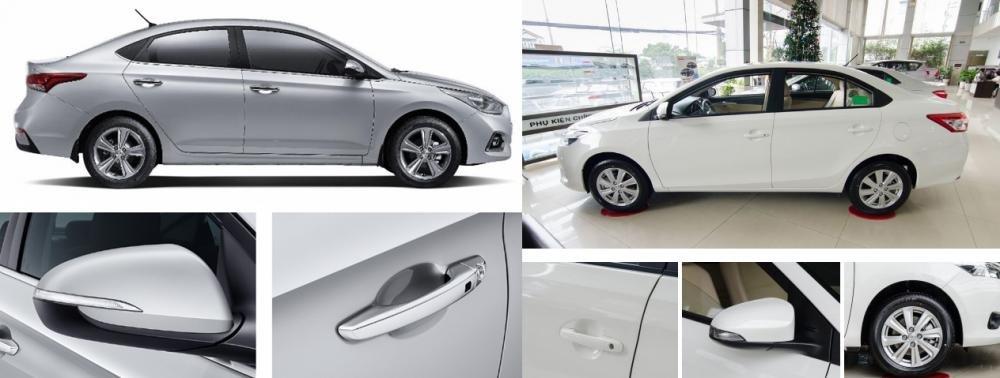 So sánh xe Hyundai Accent 2018 phiên bản 1.4AT đặc biệt và Toyota Vios 1.5G CVT 2018 về thân xe