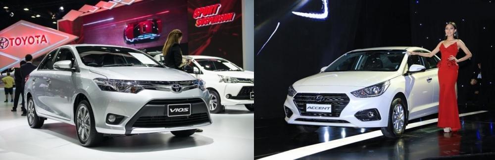 Sedan lắp ráp dưới 600 triệu đồng, chọn Hyundai Accent 2018 hay Toyota Vios 2018?