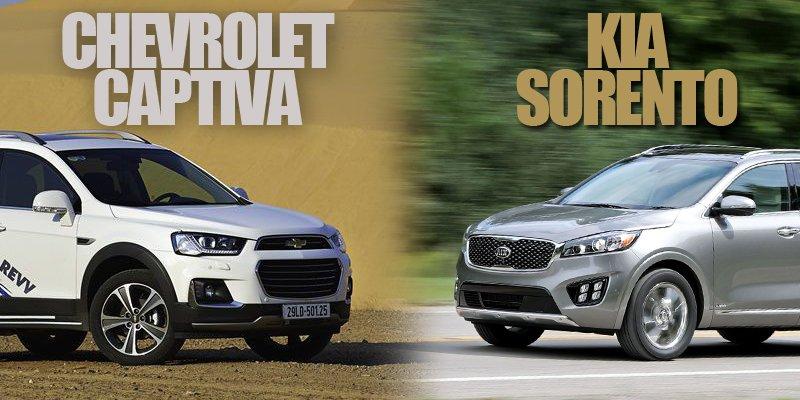 Chọn SUV cỡ trung, nên mua Chevrolet Captiva Revv 2018 hay Kia Sorento 2018 cho phải?.