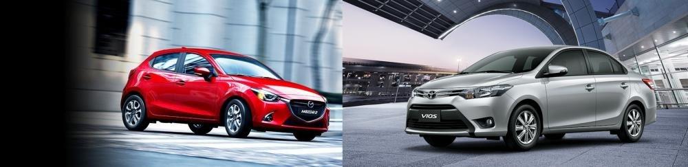 So sánh xe Mazda2 2018 sedan và Toyota Vios 1.5G CVT 2018 về hiệu suất vận hành