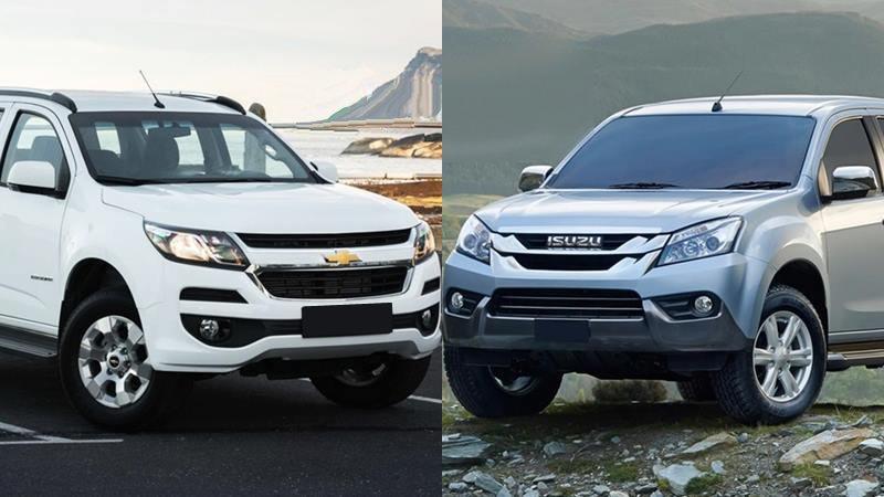 Mua SUV số sàn giá rẻ, nên chọn Isuzu MU-X 2018 hay Chevrolet Trailblazer 2018?.