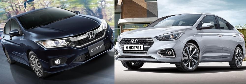 So sánh xe Honda City 1.5 TOP và Hyundai Accent 1.4 AT đặc biệt 8