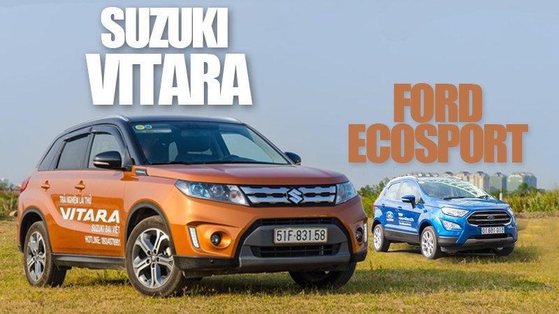 Rẻ hơn 100 triệu, liệu Ford Ecosport 2018 có kém hơn Suzuki Vitara 2018?.