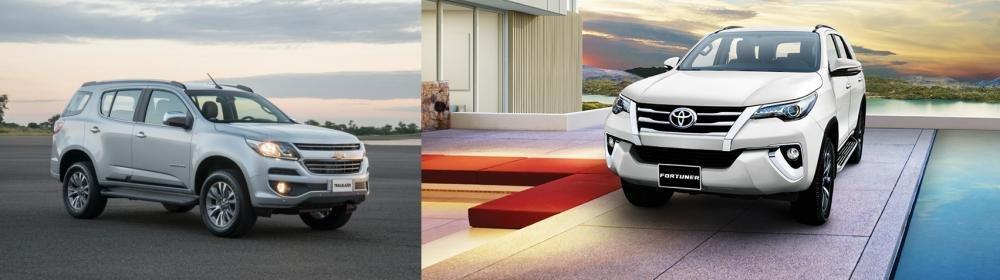 So sánh xe Toyota Fortuner 2.7V 4x4 2018 và Chevrolet Trailblazer 2.8L LTZ AT 4x4 2018 về thiết kế