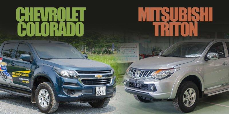 So sánh Chevrolet Colorado 2018 và Mitsubishi Triton 2018: Với 650 triệu, nên mua bán tải nào cho phải?.