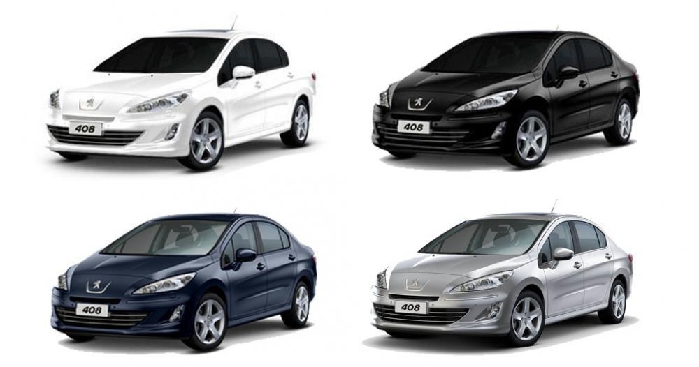 Peugeot 408 2018 bán tại Việt Nam có 4 màu ngoại thất gồm trắng, đen, xanh và bạc 1