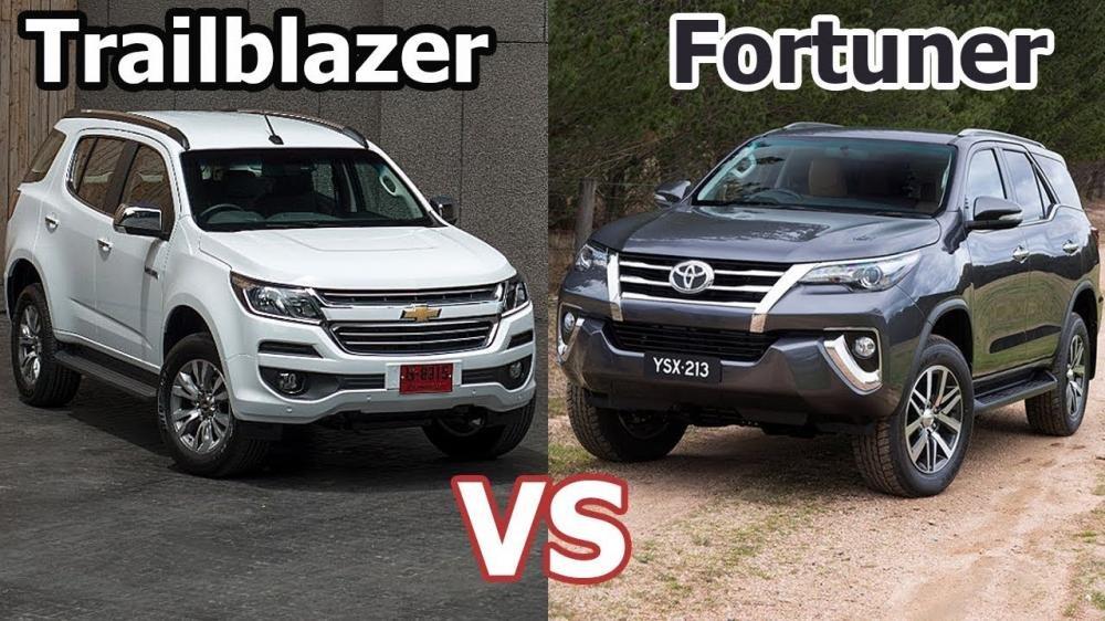 So sánh giá xe Nissan Terra, Toyota Fortuner và Chevrolet Trailblazer.