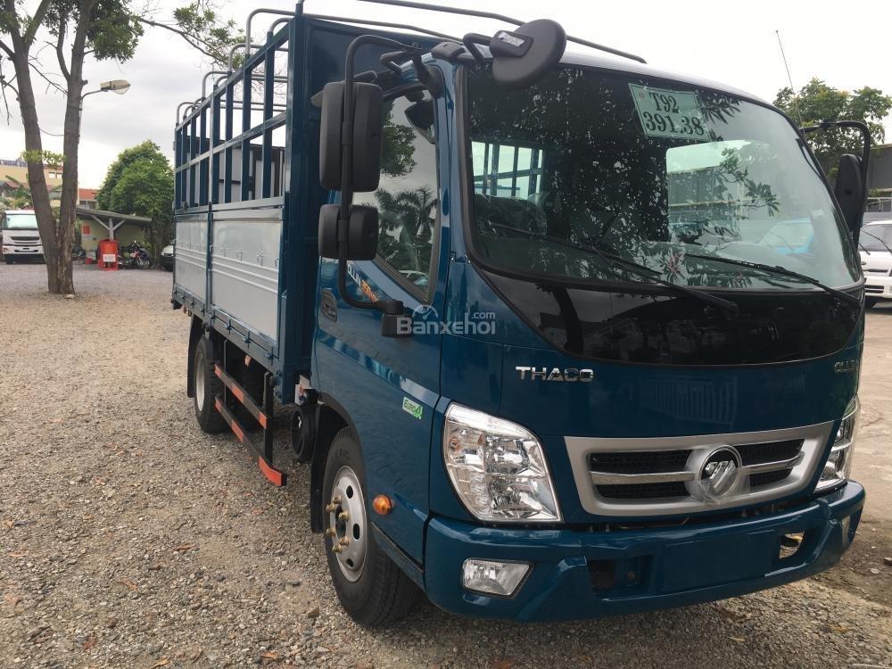 Liên hệ 096.96.44.128, cần bán xe Thaco Ollin 350 - E4 đời 2018, màu xanh dương-1