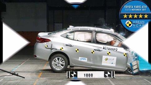 Đánh giá xe Toyota Vios 2018: Mức an toàn của xe được nâng cao.