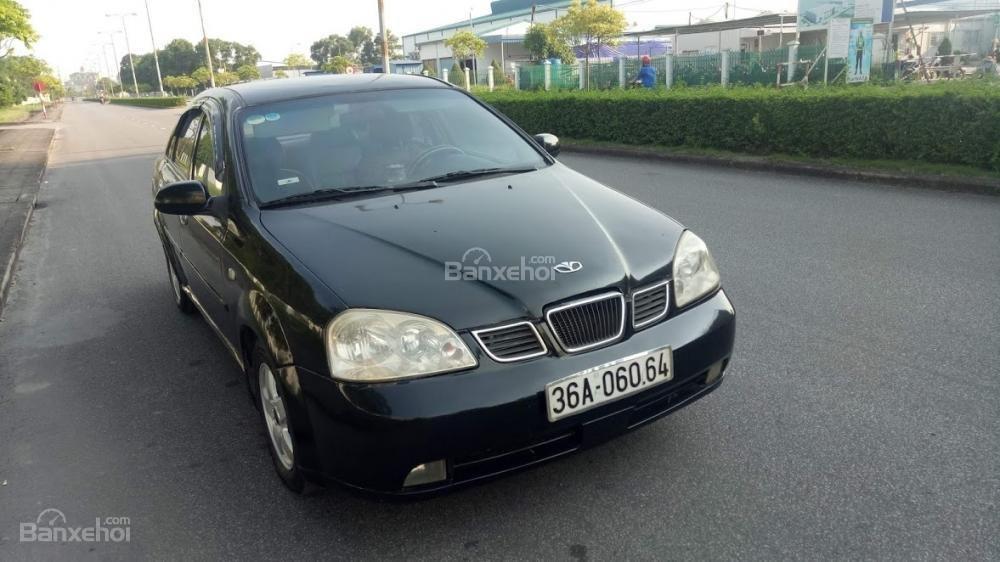 Bán ô tô Daewoo Lacetti 2004 màu đen 5 chỗ, biển Thanh Hóa, xe chất giá rẻ (1)
