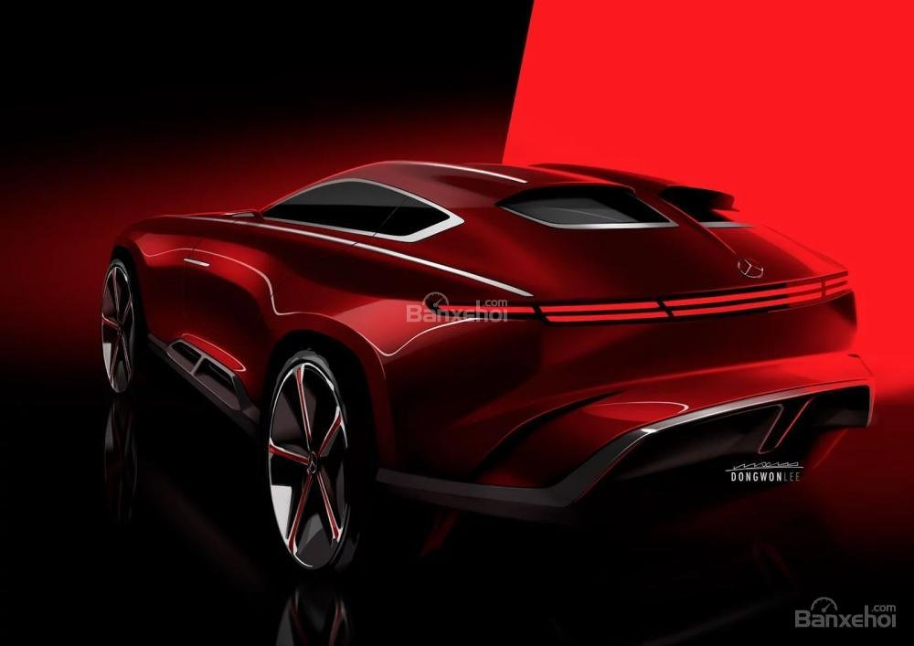 Mercedes-Maybach Coupe Crossover lộ ảnh dựng - 2