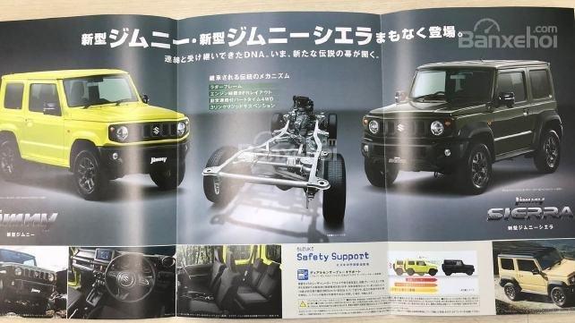 Suzuki Jimny 2019 rò rỉ ảnh brochure trước khi ra mắt vào tháng 7 tới.