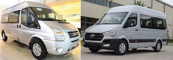 Chạy dịch vụ nên mua Ford Transit hay Hyundai Solati để tiết kiệm nhất?