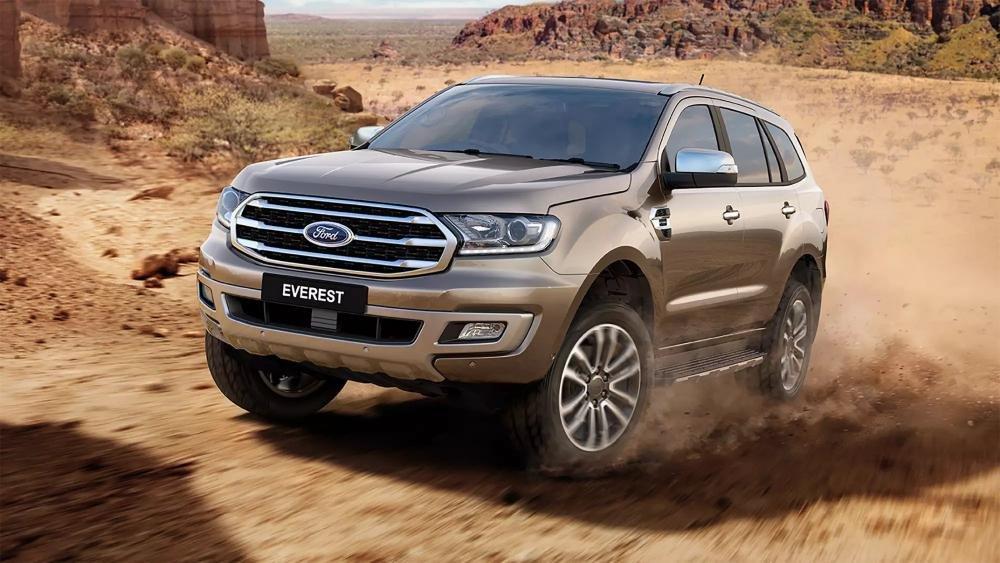 Đánh giá xe Ford Everest 2019 mới về thiết kế ngoại thất.