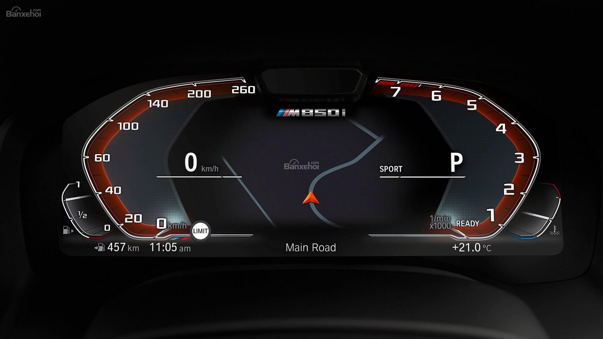 Đánh giá xe BMW 8-Series 2019: Màn hình đồng hồ lái điện tử z