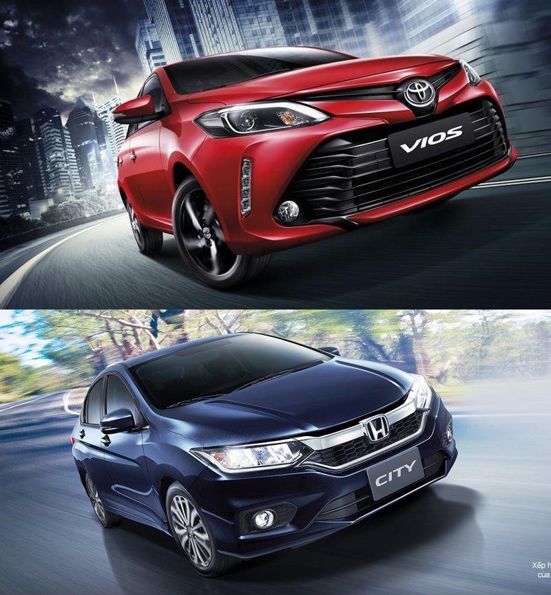 So sánh xe Toyota Vios 2018 và Honda City 2018 về đầu xe 1.