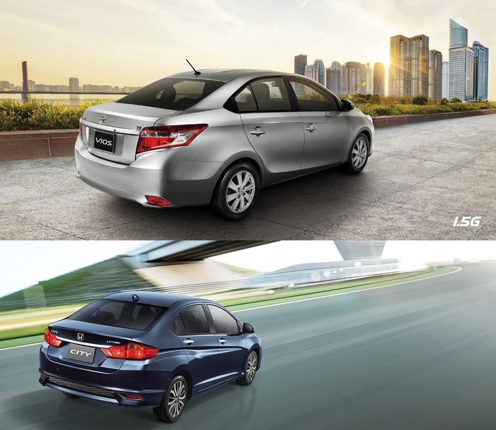 So sánh xe Toyota Vios 2018 và Honda City 2018 về đuôi xe 1.