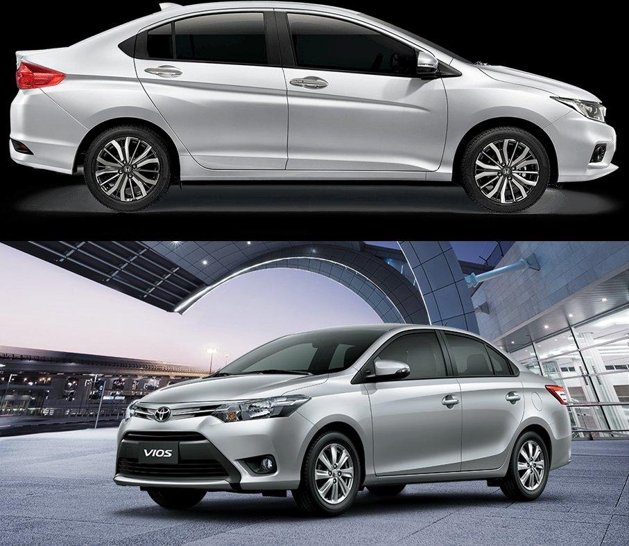 So sánh xe Toyota Vios 2018 và Honda City 2018 về thân xe 1.
