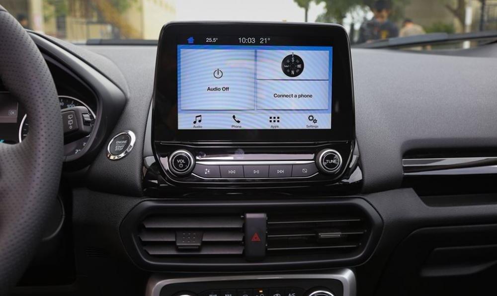 Đánh giá xe Ford EcoSport 1.0L Titanium 2018: Màn hình cảm ứng 8 inch,