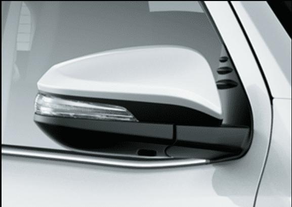 Đánh giá xe Toyota Fortuner 2018 máy dầu số tự động 2 cầu 2.8V 4x4 AT: Gương chiếu hậu 2