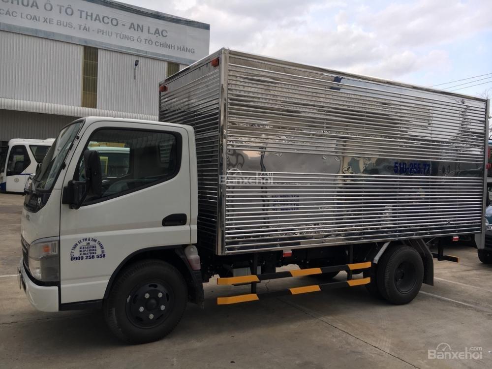 Bán xe tải Fuso Canter 4.7 thùng mui bạt/thùng kín, bán trả góp vay 80%, giá tốt nhất-0
