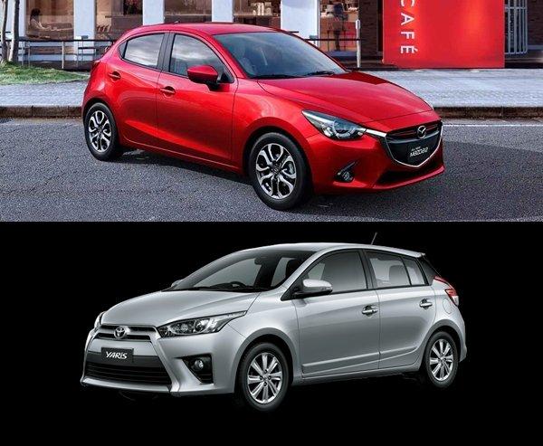 so sánh xe Toyota Yaris G 2018 và Mazda 2 2018 hatchback về thiết kế 1.
