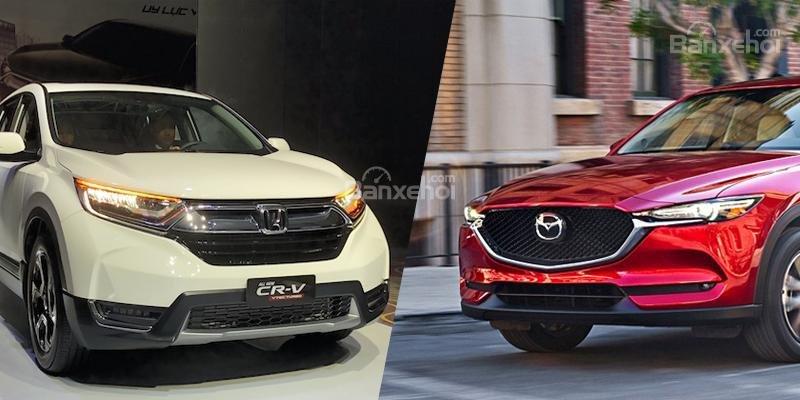 Nhìn lại cuộc chiến doanh số của Mazda CX-5 và Honda CR-V 6 tháng đầu năm 2018.
