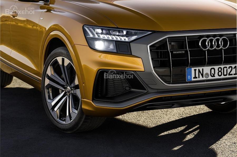 Đánh giá xe Audi Q8 2019 - đầu - 2
