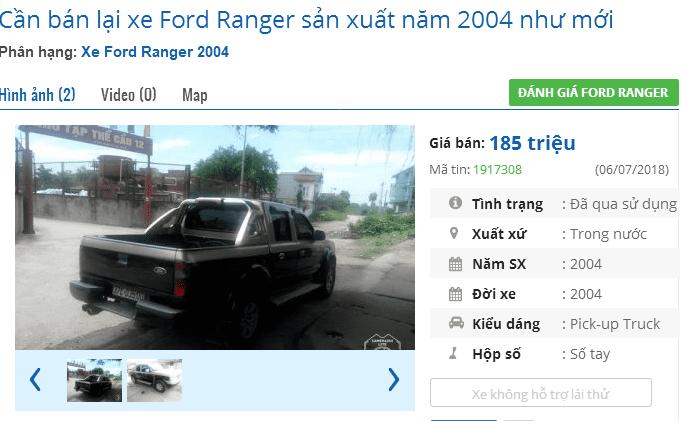 Mua xe bán tải cũ dưới 200 triệu cần lưu ý điều gì? - Ford Ranger 1