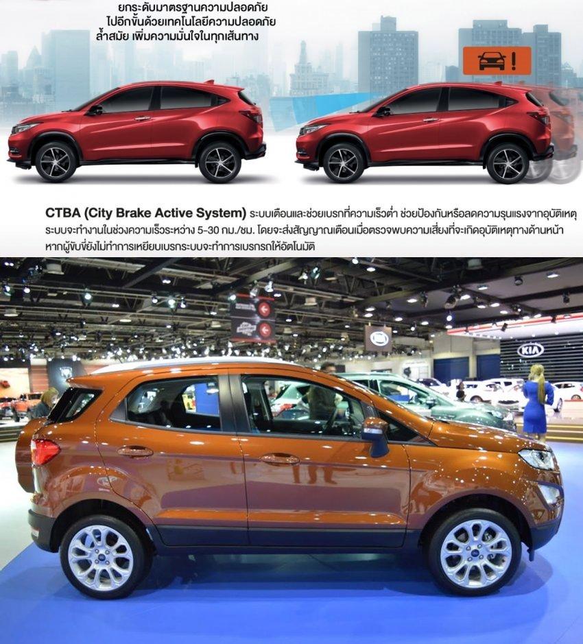 So sánh xe Honda HR-V 1.8L 2018 và Ford Ecosport Titanium 1.0L EcoBoost 2018  về thân xe 1.