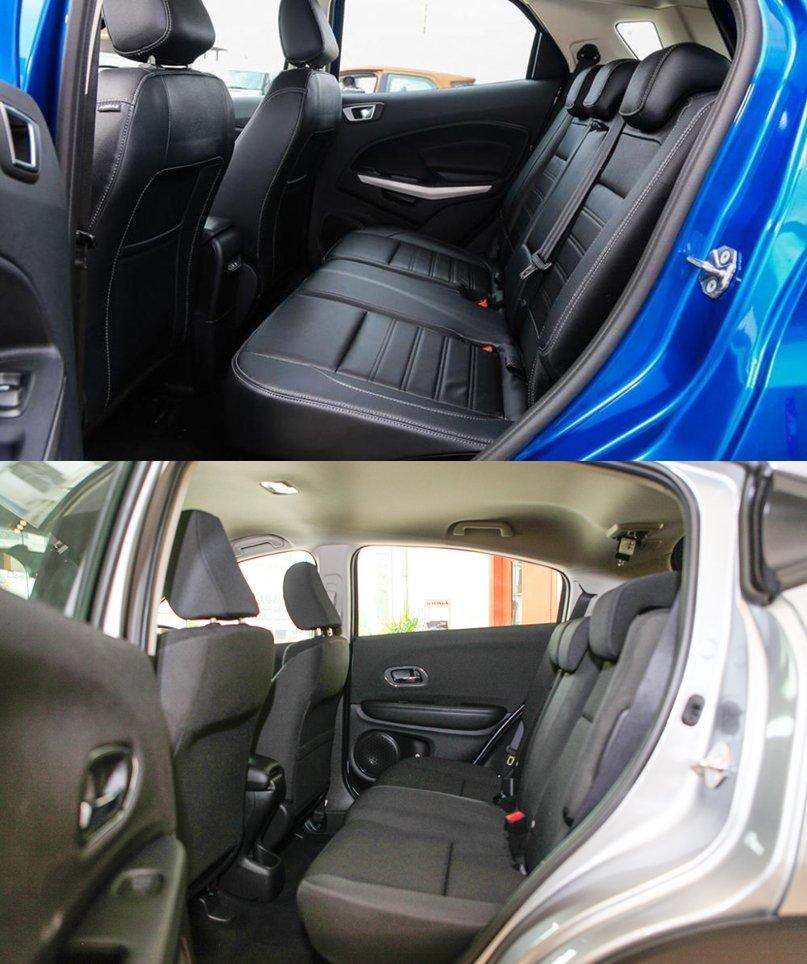 So sánh xe Honda HR-V 1.8L 2018 và Ford Ecosport Titanium 1.0L EcoBoost 2018  về ghế ngồi 1.