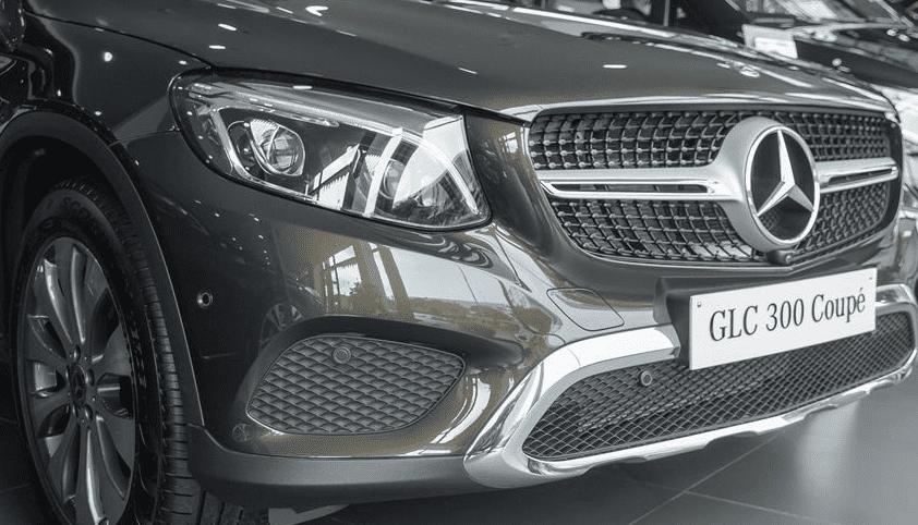 Đánh giá xe Mercedes-Benz GLC 300 4MATIC Coupe 2018: Cản trước 1
